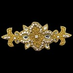 Rinestones Beaded Applique Patch by PC, FF-J06-246