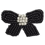 Bow Rinestones Beaded Applique Patch by PC, TR-10492
