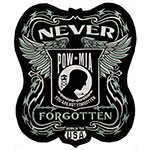 Never Forgotten Embroidered Iron-On Biker Jacket Patch by PC, TR-11475