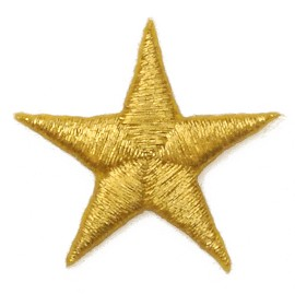 "1-1/4"" (30mm) Star Iron-On Applique Patch by 2-pcs, PA-IA-T0003"