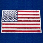 USA Flag Embroidery Iron-on Patch Applique by PC, PA-IA-T06725