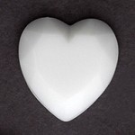 18mm Pearl Plastic Heart Flatback Bead by 12pcs