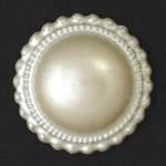 25mm Pearl Lace-edge Round Plastic Flatback Beads by 12pcs,  PLE-2009-RNDFB-25
