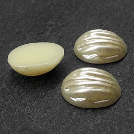 18mm Baroque Oval Pearl Flatback Beads by 12pcs,  PRL-OVLBRQ_FB18