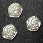 13mm Rose Flatback Beads by 12pcs,  PRL-ROSE-FB-13