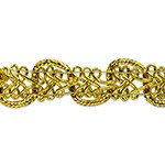 Gwen Lacey Metallic Braid Trim by 1 Yard, EXP-IR6971