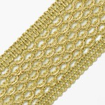 45mm Metallic Braid Trim by Yard, SMB-3015