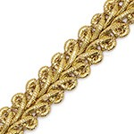 10mm Metallic Braid Trim by Yard, TR-11132