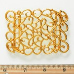 Vintage GOLD Metal Belt Buckle, Vintage Fashion Jewelry by PC, LT-5479