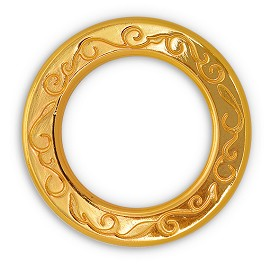 2'' Metal Gold O-Ring Belt Buckle, Fashion Jewelry by pc, SP-2457