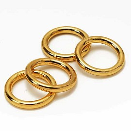 1-3/8'' Metal Gold O-Ring Buckle, Fashion Jewelry by pc, SP-2459