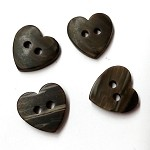 4pcs Heart Plastic Buttons, 2-Hole Button, GN-4702