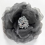 Beaded Flower Clip Pin for Headband, Dress and crafts by PC, FL-1022