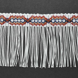 "4"" Decorative Chainette Fringe Trim by 1 Yard, BADE-11464"