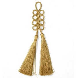 "7-1/4"" Gold tassels by PC, TR-11322"