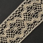 Vintage Ivory Cotton Cluny Lace Trim by Yard, BADE-590