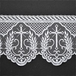 Embroidered tulle Cross lace Trim by YD, STEP-3520