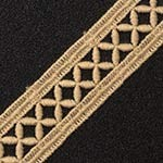 21mm Embroidered Lace Trim by Yard, STEP-3756