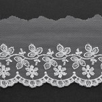 Flower Embroidered Tulle Lace Trim by Yard, STEP-4118