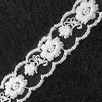 Vintage Embroidered Galloon Lace Trim by YD, TR-10959