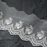 Vintage Embroidery Tulle Lace Trim by YD, TR-10966