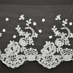 Embroidered Lace Trim by YD, TR-11205