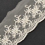 Embroidered Tulle Lace Trim by YD, TR-11208