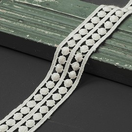 "1-3/16"" Embroidery Lace Trim by YD, TR-11403"