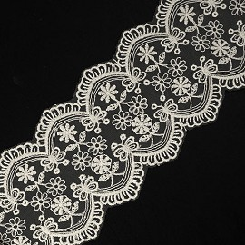 "3"" Embroidery Lace Trim by YD, TR-11410"