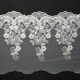 "5"" Embroidered Lace Trim by YD, TR-11418"