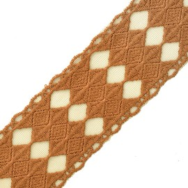 "2-5/8"" Embroidery Lace Trim by YD, TR-11461"