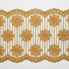 "6-1/8"" Metallic Lace Trim by YD, LP-MX-6274"