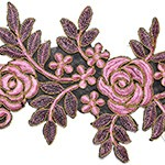 Metallic Gimp Embroidery Ribbon Lace Trim by Yard, SMB-453