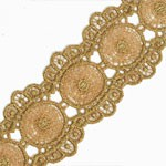 Metallic Thread Lace Trim by Yard, TR-11270