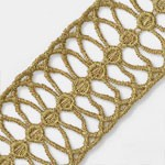 GOLD Metallic Thread Lace Trim by Yard, TR-11274