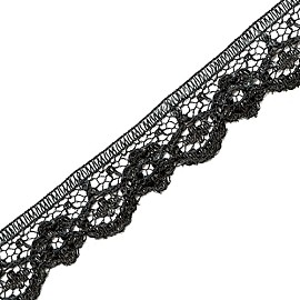 "1/2"" Raschel Non-Stretch Lace Trim by YD, SEE-NSL-0067"