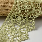 Vintage Guipure Embroidered Lace Trim by Yard, STEP-3819