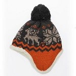 Winter Knit Warm Fleece Lined Pom Beanie Hat with Ear Flaps by pc, EJ-1005