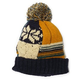 Multi Color Winter Knit Pom Pom Beanie Winter Ski Hat by pc, EJ-1007