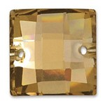 6x6 mm Square Resin Sew-on Rhinestone, CT-2070-SO