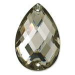 7x10mm Drop Resin Sew-on Rhinestone, CT-2320-SO