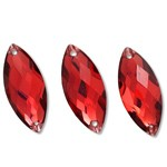 10x23mm Resin Sew-on Rhinestone, CT-2210-SO