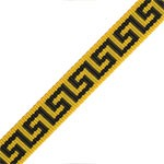 Greek Key Webbing Band Ribbon Trim by Yard,  TR-11242