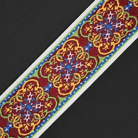 Vintage Jacquard braid ribbon trim by 1-yard, TR-11264