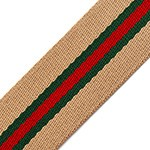 Striped Webbing Band Ribbon Trim by Yard, TR-11734