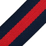 Navy Striped Webbing Ribbon Band Trim by Yard,  TR-11839