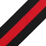Black Striped Webbing Ribbon Band Trim by Yard,  TR-11840