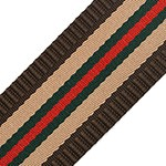 Striped Webbing Band Ribbon Trim by Yard, TR-11844