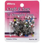 75 Straight Dressmaker Trim Pins by 75 pins, ALLARY-325