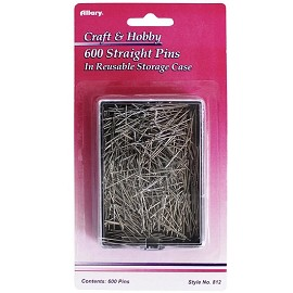 600 Size 17 Straight Pins by Box (600 pins), ALLARY-812